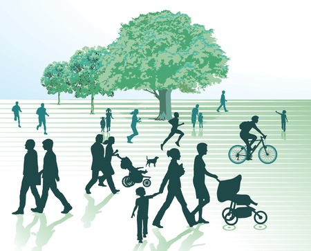 walk of life: Spring in the city Illustration
