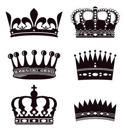 royal crown: Set of crowns Illustration