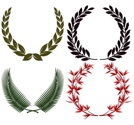 Laurel wreath and honors Vector