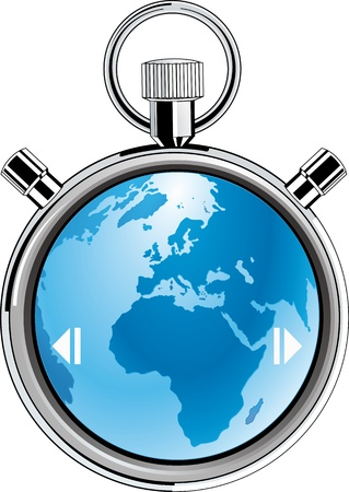 stopwatch earth Stock Vector - 18224559