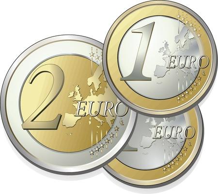 euro coins: Euro coins  Illustration