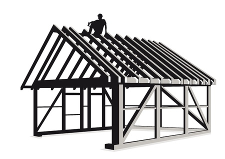 home builder: Carpenter and wood construction