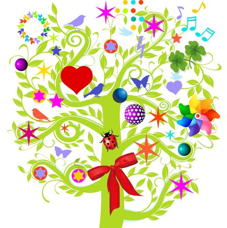 bird of paradise: tree colorful