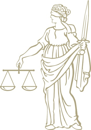justice statue Stock Vector - 18287994
