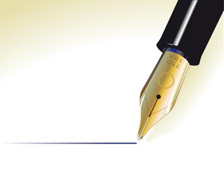 Fountain pen Ilustracja