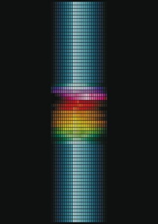 nightclub bar: dynamic light column Illustration