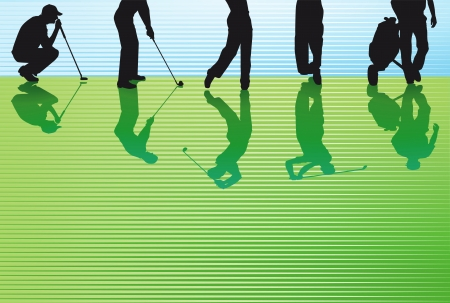 golfer: golfing green Illustration