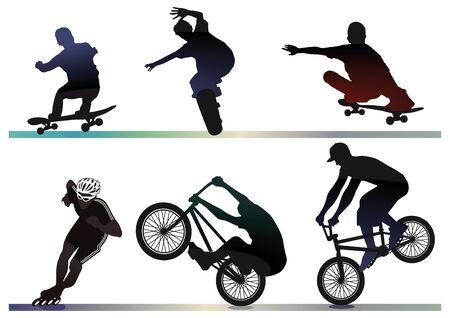 rollerskater: skaete, bike, inline artist