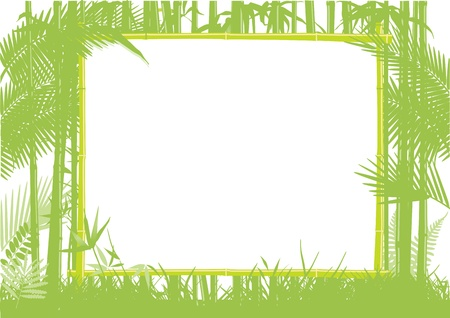 overgrown: Bamboo and Jungle Frame Illustration