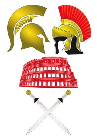 colosseo: Legionari e Gladiator Vettoriali