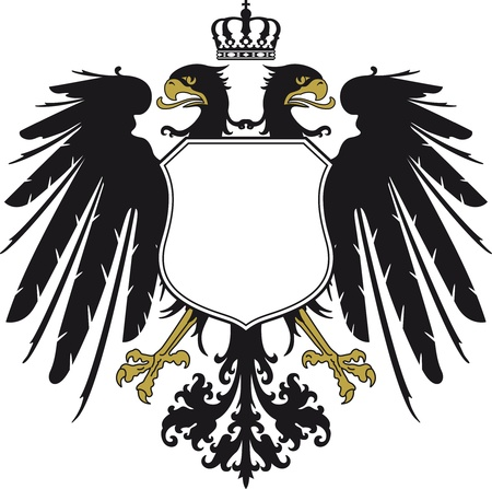 Double-headed eagle with crown Vector