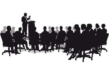 sala de reuniões: estrat Ilustração