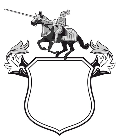 shield and sword: Knights tournament crest Illustration