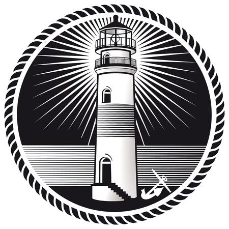 Lighthouse mark Stock Vector - 18555713
