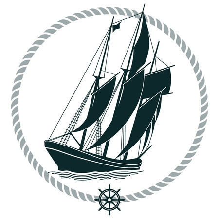 schooner: Sailing Ship Sign