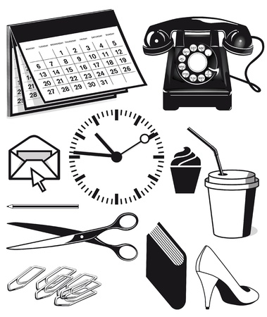 Office supplies and workplace Stock Vector - 18707545