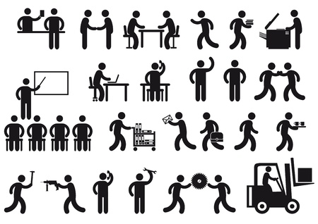 vergadering: banen pictogram Stock Illustratie