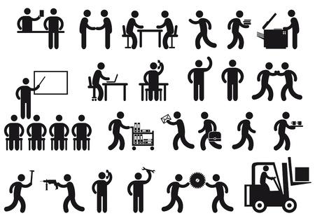corsi di formazione: lavori icona Vettoriali