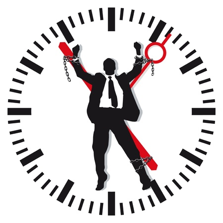 overworked: Man in time stress