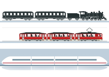 three railroads Stock Vector - 18844569