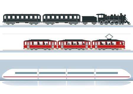 tres ferrocarriles Ilustración de vector