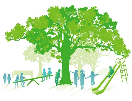 green playground Illustration