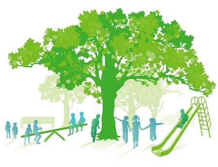 green playground Illustration