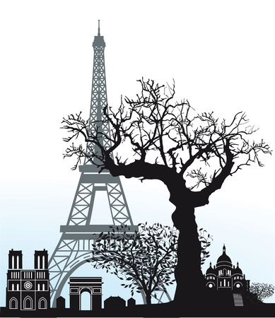 Sights in Paris Stock Vector - 18976494