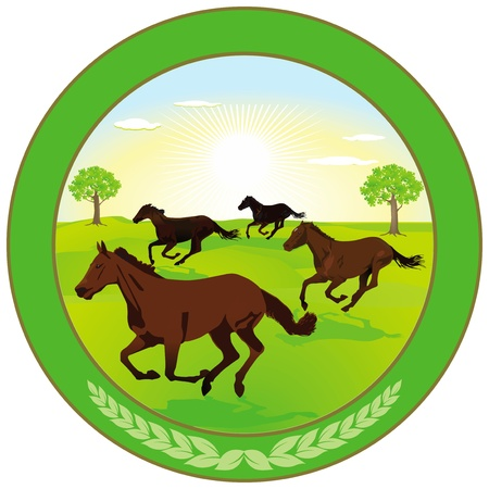 omitted: Horse breeding Label Illustration
