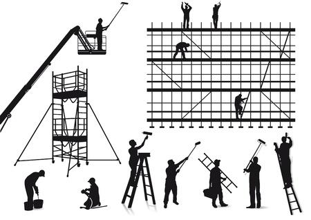 andamios: Los pintores y artesanos