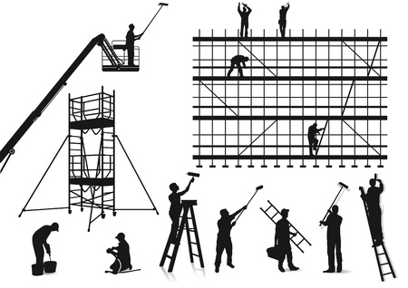 Painters and craftsmen Vector