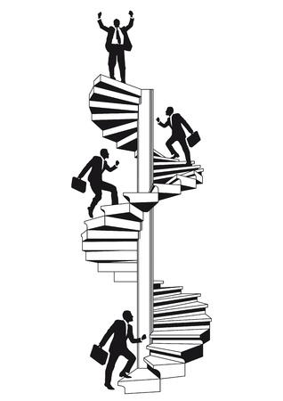 sobresalir: carrera escalera