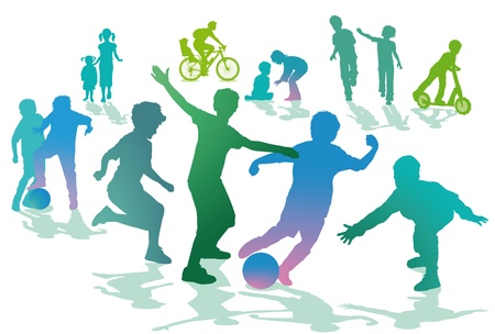 Children in the leisure and sport Vector