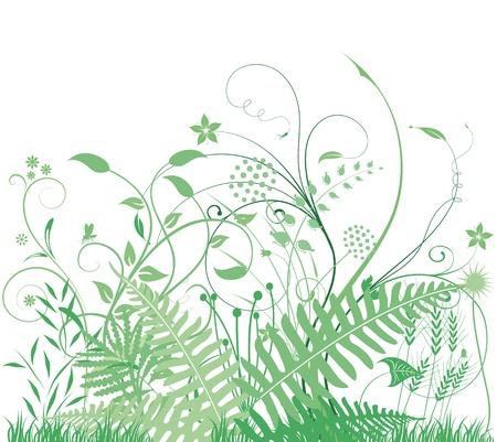 緑の草や植物  イラスト・ベクター素材