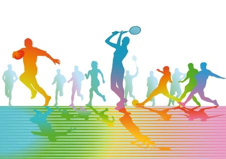 Sports and play Vektorové ilustrace