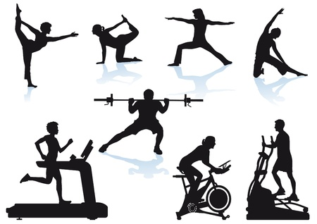 Fitness sports Stock Vector - 19447091