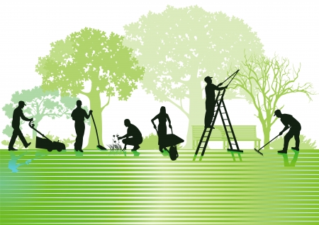 Gardening and garden maintenance Vector