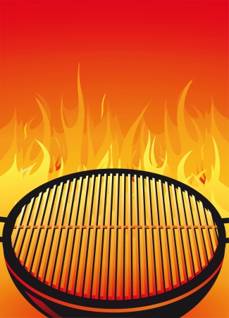 charcoal grill: BBQ Grill Illustration