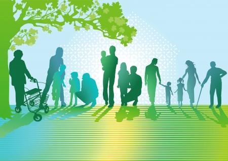 familia parque: Generaciones de familias