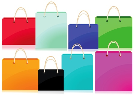 circuit sale: Colorful shopping bags