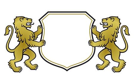 border lion Illustration