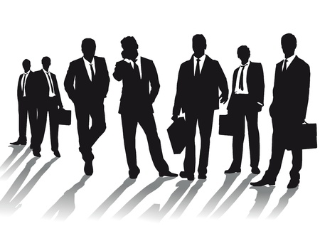 role model: Business people silhouettes Illustration