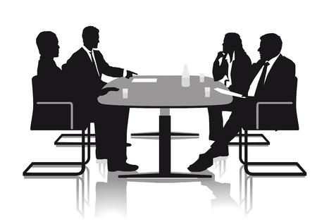 escritorio: Las conversaciones en la oficina Vectores