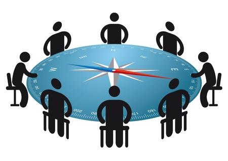 discuss: direction meeting Illustration