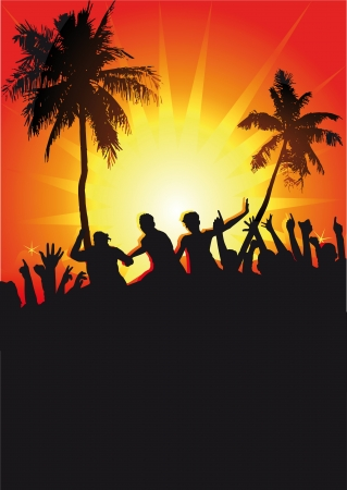beach party Stock Vector - 20553817