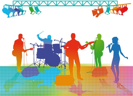 riboflavin: Band on Stage Illustration