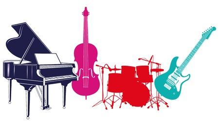 orquesta: Instrumentos musicales Vectores