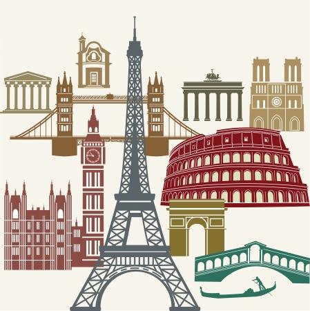 Europe Impressions Ilustração
