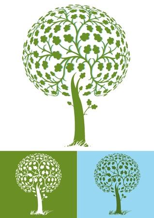 foglie di quercia: albero stilizzato