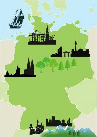 dom: Carte de l'Allemagne